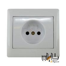 پریز برق محافظ دار دلند الکتریک مدل آریا